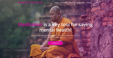 Free meditation website template