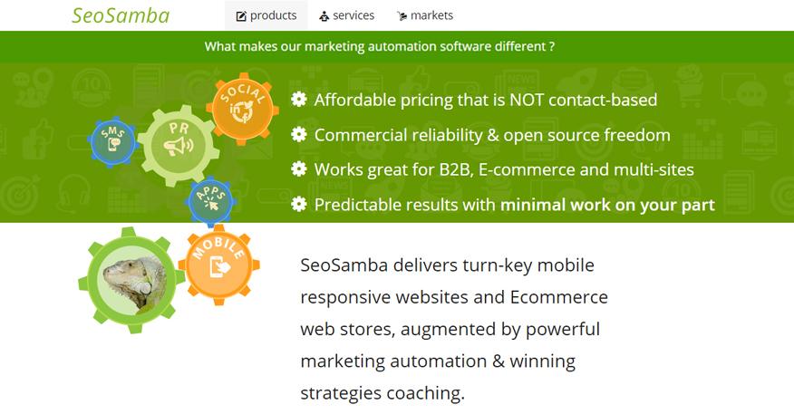 Multi-sites marketing specialist SeoSamba.com releases new website